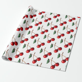 Cherry Red Wrapping Paper
