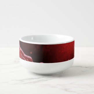 Cherry Ripples Soup Bowl With Handle