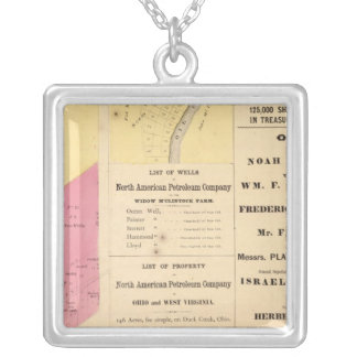 Cherry Run property Square Pendant Necklace