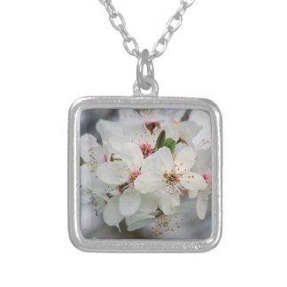 Cherry Sakura Blossom Silver Plated Necklace