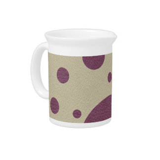 Cherry Scattered Spots on Stone Leather print Beverage Pitcher