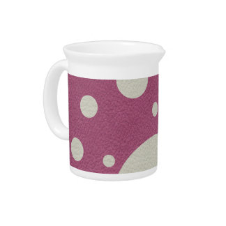 Cherry Scattered Spots on Stone Leather print Drink Pitcher