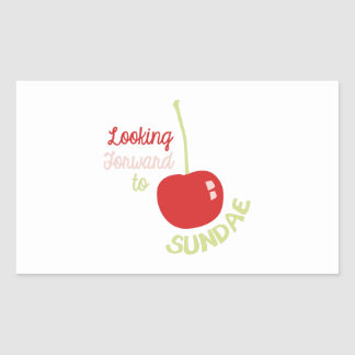 Cherry Sundae Rectangular Sticker