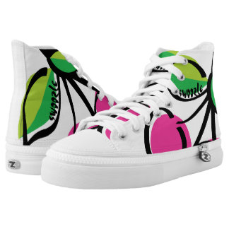 Cherry Swoozle Zipz High Top Shoes