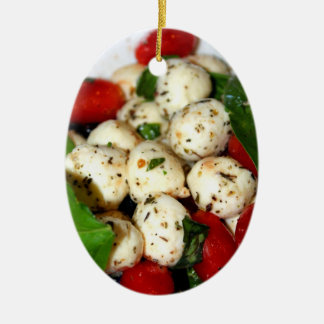 Cherry Tomato and Mozzarella Salad Ceramic Ornament