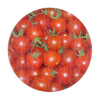 Cherry Tomato Harvest Glass Cutting Board