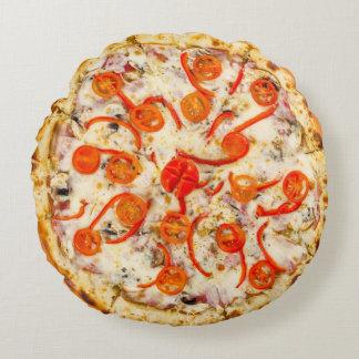 Cherry Tomato Pizza Round Pillow