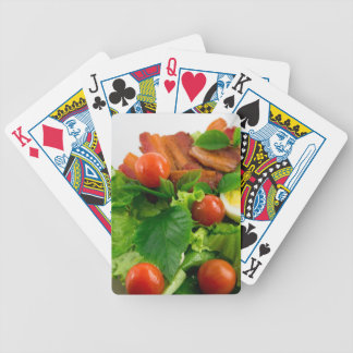 Cherry tomatoes, herbs, olive oil, eggs and bacon bicycle playing cards