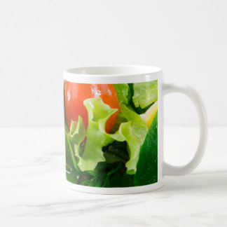 Cherry tomatoes, herbs, olive oil, eggs and bacon coffee mug