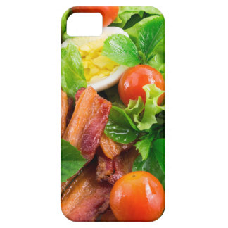 Cherry tomatoes, herbs, olive oil, eggs and bacon iPhone 5 covers