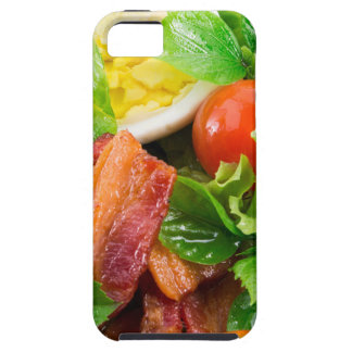 Cherry tomatoes, herbs, olive oil, eggs and bacon tough iPhone 5 case