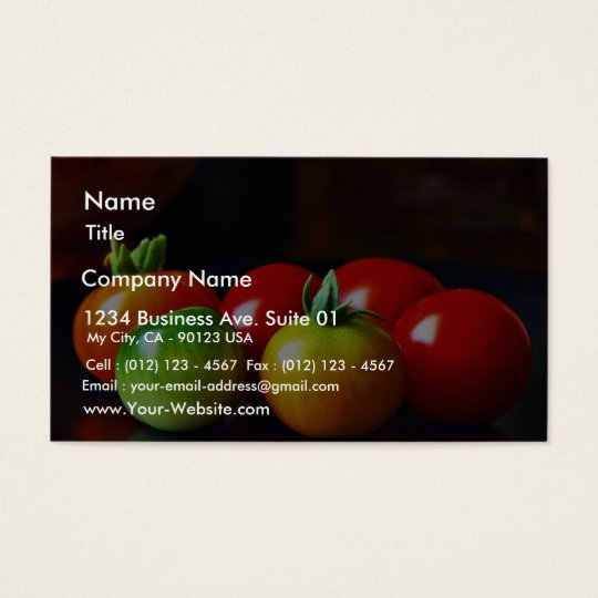 Cherry Tomatos Business Card