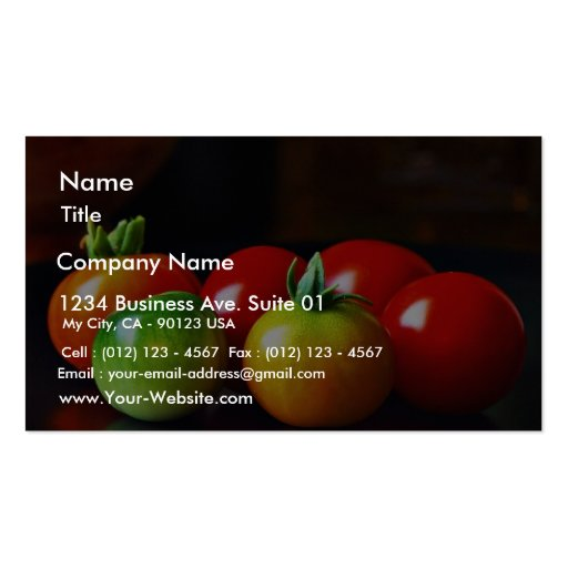 Cherry Tomatos Pack Of Standard Business Cards
