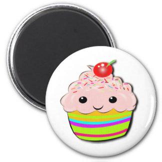 Cherry Top 6 Cm Round Magnet