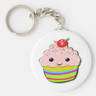 Cherry Top Basic Round Button Key Ring