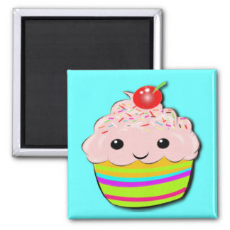 Cherry Top Square Magnet