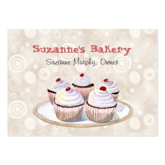 Cherry Topped Cupcakes Business Cards