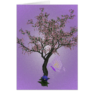 Cherry Tree Art Card