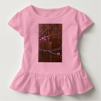 Cherry Tree Blossoms and Wood Pole Toddler Tee Pnk