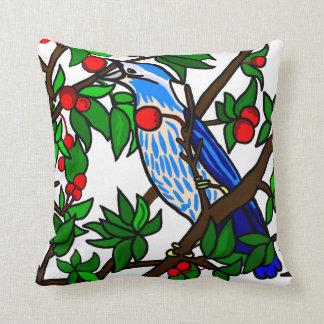 Cherry Tree Blue Bird Cushion