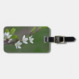 Cherry tree flowers luggage tag