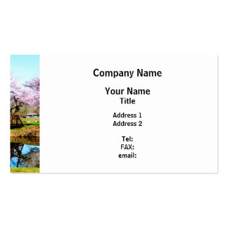 Cherry Trees in the Park Business Card