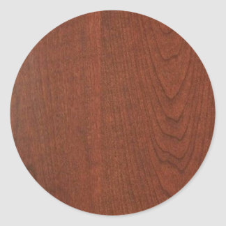 CHERRY WOOD CHERRYWOOD LOOK COLLECTION CLASSIC ROUND STICKER