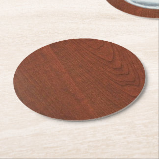 CHERRY WOOD CHERRYWOOD LOOK COLLECTION ROUND PAPER COASTER