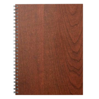 CHERRY WOOD finish BUY blank blanche add TEXT IMG Spiral Notebooks