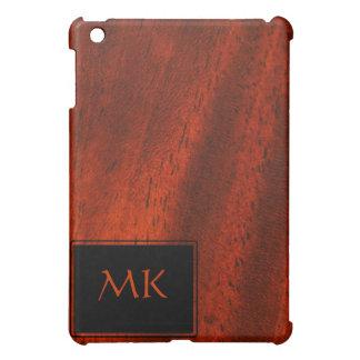 Cherry Wood Monogram iPad Mini Case