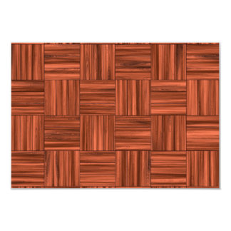 Cherry Wood Parquet Floor Pattern Card