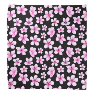 Cherryblossoms Flower Floral black Pattern Bandana