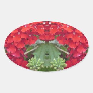 CherryHILL FUN Flower Bouquet NVN219 NavinJOSHI Oval Sticker