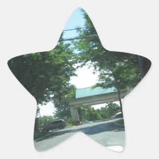 CherryHILL NewJersey USA Green Theme HAPPY WALK Star Sticker