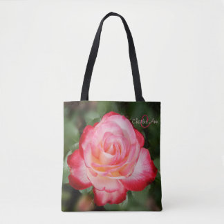 CherryParfait Rose Monogram All Over Print Totebag Tote Bag