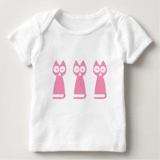Cherrypink Triangle Symbolic Cat Baby T-Shirt