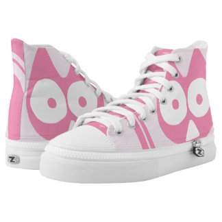 Cherrypink Triangle Symbolic Cat High Tops