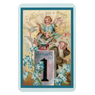 Cherub and Father Time Magnet