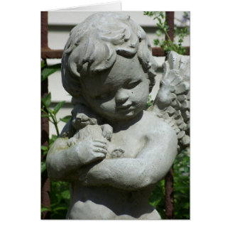 cherub angel closeup notecard