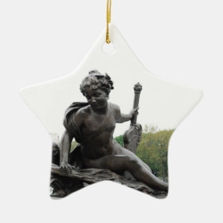 Cherub Angel Statue in Paris Christmas Ornaments