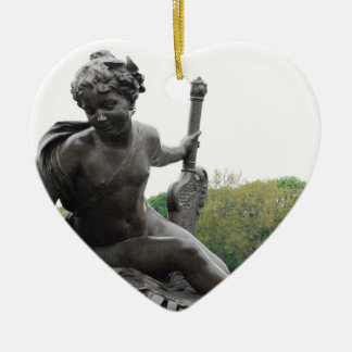 Cherub Angel Statue in Paris Christmas Tree Ornaments