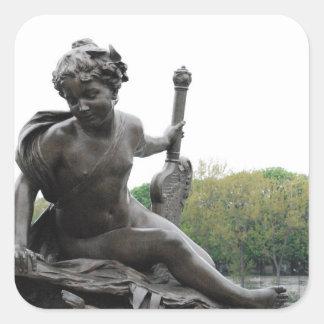 Cherub Angel Statue in Paris Square Stickers