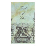Cherub Angels French Architecture Green Business Card