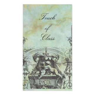 Cherub Angels French Architecture Green Pack Of Standard Business Cards