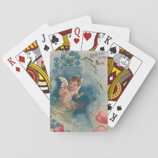 Cherub Cupid Cobweb Forget-Me-Not Heart Playing Cards