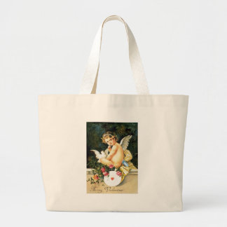 Cherub Cupid Dove Rose Heart Jumbo Tote Bag