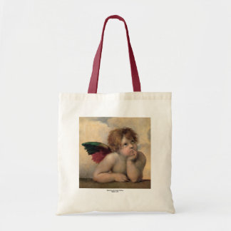 Cherub from Sistine Madonna by Raphael Tote Bag