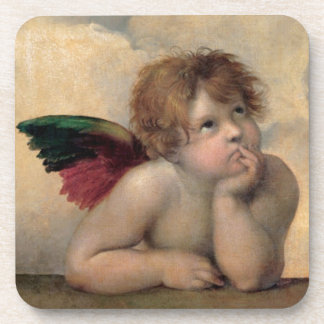 Cherub from Sistine Madonna by Raphael Coaster
