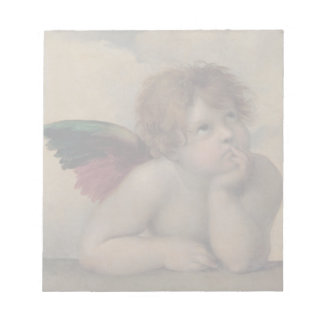 Cherub from Sistine Madonna by Raphael Notepad