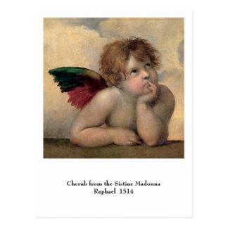 Cherub from Sistine Madonna by Raphael Postcard